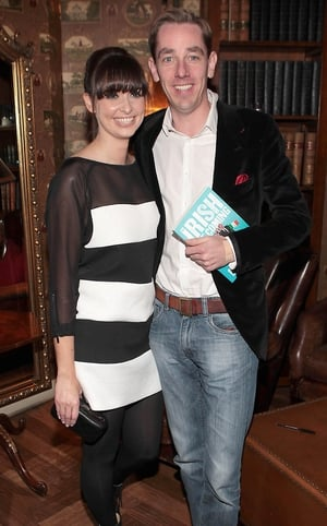 Aoibhinn Ní Shúilleabháin and Ryan Tubridy at the launch of his new book The Irish are Coming