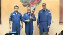 Olympic torch brought into space