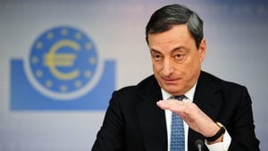 Mario Draghi argued the economy is humming along and the exceptional growth readings seen around the turn of the year were never expected to be sustained