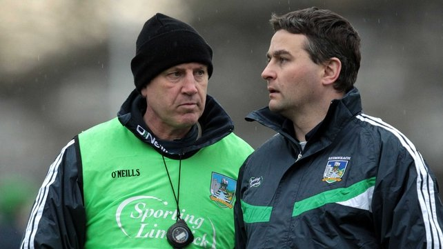 TJ Ryan, pictured on the right here with Dónal O'Grady and Limerick are now focusing on the defence of their Munster crown
