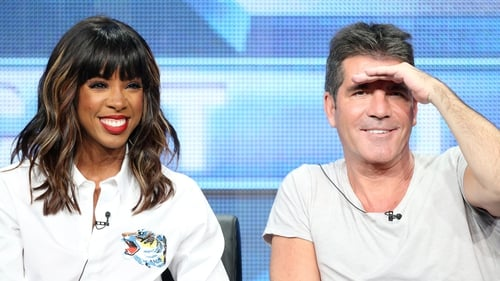 Kelly Rowland and Simon Cowell