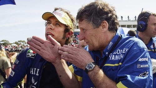 Jeremy Burgess and Valentino Rossi in 2005