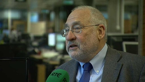 Joseph Stiglitz said he was astonished at how little protest there was in Ireland