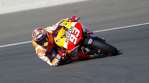 Marc Marquez broke his leg only six weeks ago
