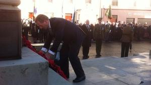 Taoiseach Enda Kenny laid a wreath at the War Memorial in Enniskillen (Pic: Merrionstreet.ie)