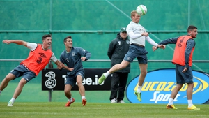 Ciaran Clark (far left) and Robbie Brady (far right) are out of Ireland's ties against Poland and Latvia