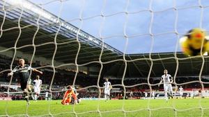 Stephen Ireland scored Stoke's second goal at the Liberty Stadium