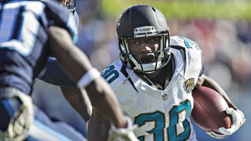 Jordan Todman of the Jacksonville Jaguars