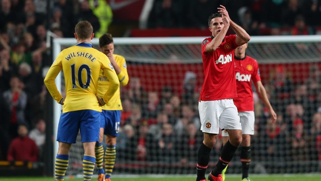 Robin van Persie scored the game's only goal at Old Trafford as United beat Arsenal