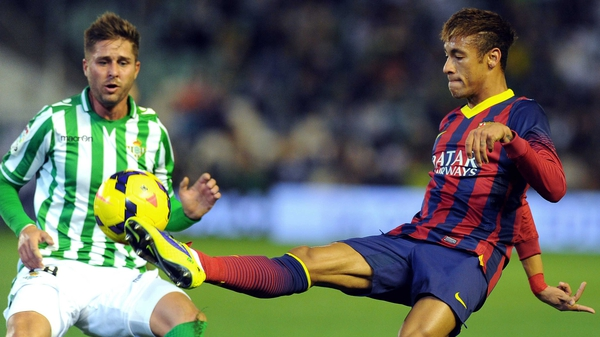 Neyamar bagged one of Barcelona's four goals against Real Betis