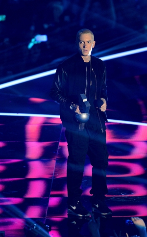 Eminem picked up two awards and performed