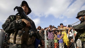 The Filipino government has deployed armed guards to deter looting