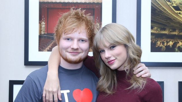 Close friends Ed Sheeran and Taylor Swift