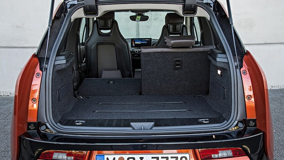A well-styled tailgate opens to reveal an adequate boot