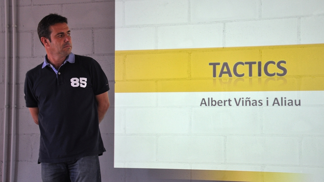 Albert Vinas, tutor of former Barcelona coach Tito Vilanova, masterminds all training at Futbol Salou Sports Complex