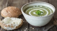 Garden Pea and Mint Soup - A fresh and tasty soup that would be ideal for a dinner party