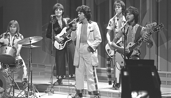 Les McKeown (centre) with the Bay City Rollers