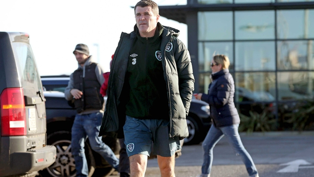 Keane went straight on to the training pitch to ensure everything was in place for the start of the morning session