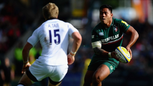 Manu Tuilagi in action for Leicester Tigers against Newcastle Falcons last September