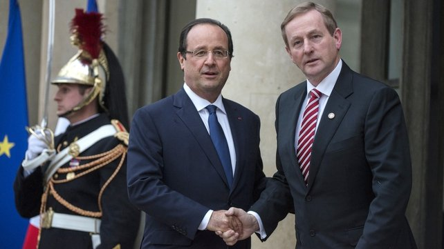 Enda Kenny met French President Francois Hollande ahead of the conference on tackling youth unemployment