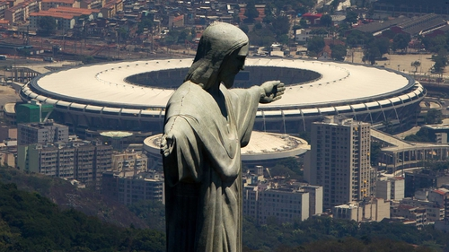 The Christ the Redemeemer statue and the Maracana are two of Rio's most distinctive landmarks