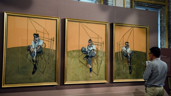 The triptych was part of a group of works by Francis Bacon