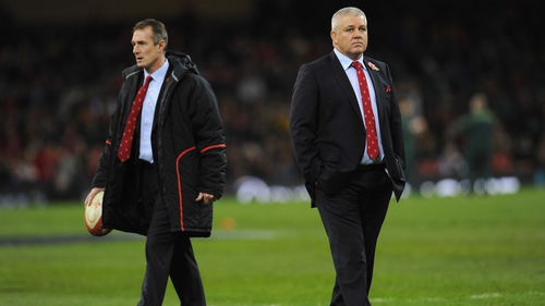 Warren Gatland's (right) Wales squad has been bit by several injuries