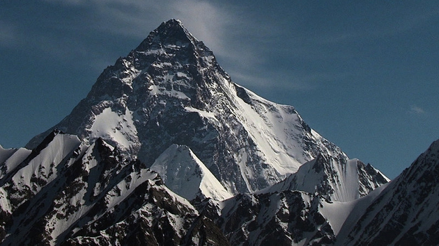 K2 in the Himalayas, the second highest peak and the most dangerous mountain on Earth