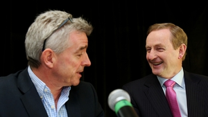Taoiseach Enda Kenny joined Michael O'Leary at today's announcement
