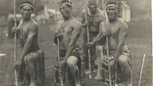 Photo of Maori display taken by Michael Dunne in 1930