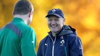 Joe Schmidt and Paul O'Connell speak to the press as the Irish team to face Australia is announced.