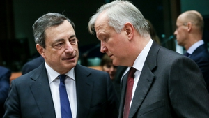 European Central Bank President Mario Draghi and European Commission Vice-President Olli Rehn are attending the meeting