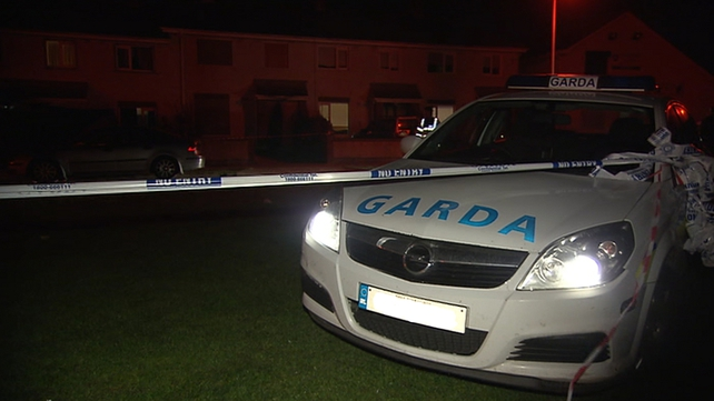 The scene at Mourne Park in Skerries has been sealed off