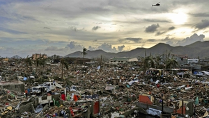 The Philippines is hit by an average of 20 typhoons or tropical storms each year