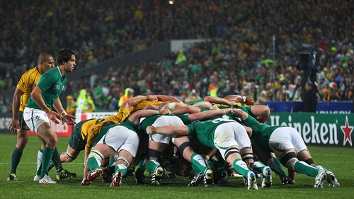 Ireland's scrum was a key element of their win over Australia in 2011