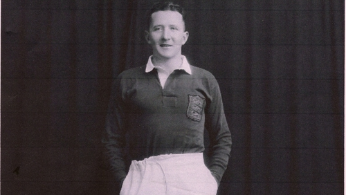 Michael Dunne, aged 25, wearing his Lions rugby jersey.