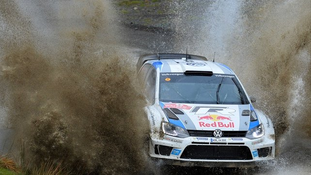 Sebastien Ogier and co-driver Julien Ingrassia during the Sweet Lamb stage