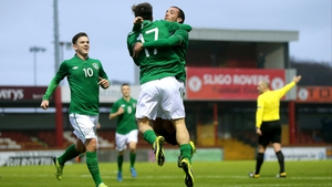 Jack Grealish celebrates scoring the third goal with Samir Carruthers