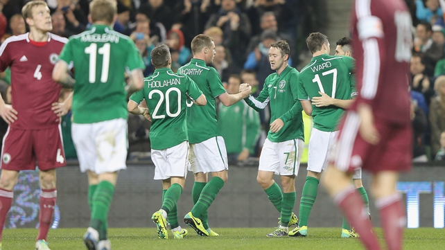 Aiden McGeady's powerfully struck effort put Ireland 2-0 up