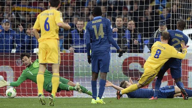 Roman Zozulia (No 8) set Ukraine on their way