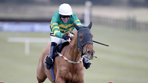 Defy Logic disappointed in the Irish Arkle after suffering an episode of exercise-induced pulmonary hemorrhage (EIPH)
