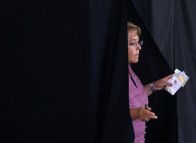 Former president Michelle Bachelet received 45.7% of the vote, radio Bio-Bio said