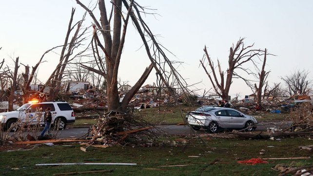 Several tornadoes touched down in the US Midwest