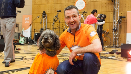 Jim Breen and Cycle Against Suicide supporter, Buddy! Credit: Kim Munday