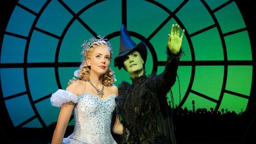 Emily Tierney as Glinda and Nikki Davis-Jones as Elphaba