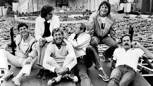The original Monty Python team, with the late Graham Chapman