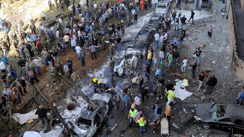Explosions apparently targeted the Iranian embassy in Beirut