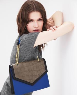 Chelsea croc-effect leather shoulder bag, €190.65