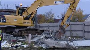 Demolition work began on the estate in Athlone today