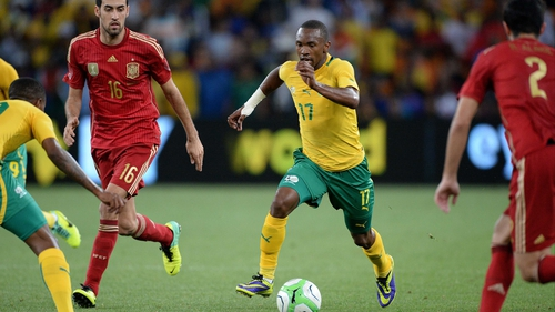 Bernard Parker scored the only goal of the game in South Africa's win against Spain